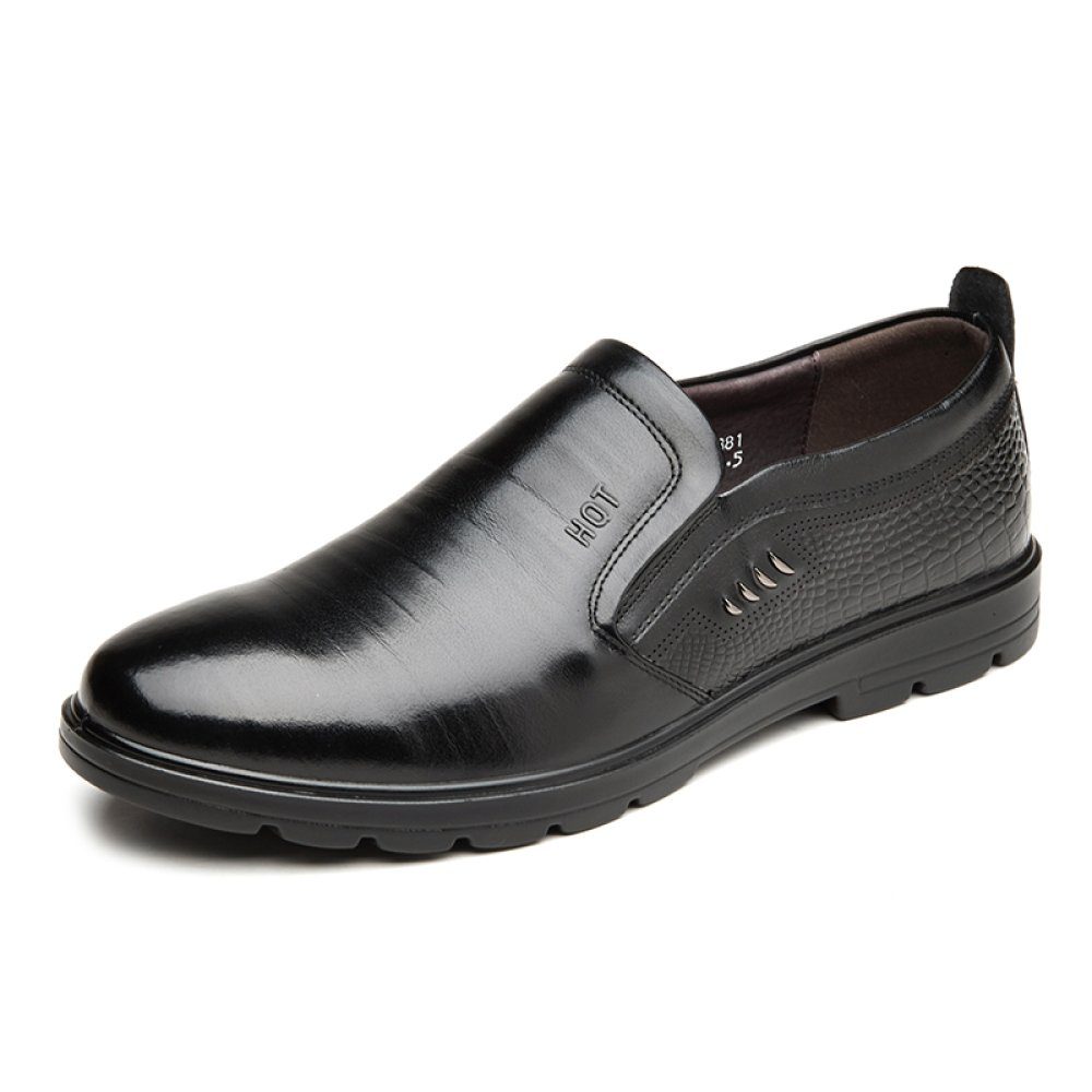 GTYMFH Leder Einzelne Schuhe Frühling und Herbst Männer Geschäft Freizeitschuhe Arbeitsplatz Schuhe Herrenschuhe