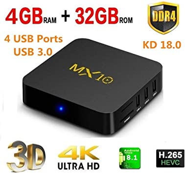 KKmoon Z69 Miracast media player inteligente Android TV Box Amlogic S905 7.1 x Quad-Core UHD 4 K 3 GB/32 GB Mini PC LAN y WiFi H.265 nos enchufe: Amazon.es: Electrónica
