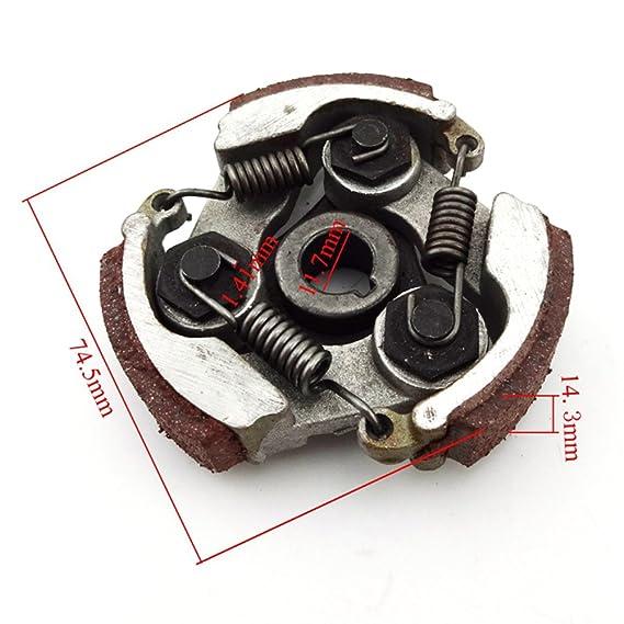 STONEDER 11T T8F - Caja de Engranajes de Doble Cadena para Tambor de 2 Tiempos 47 CC 49 CC: Amazon.es: Coche y moto