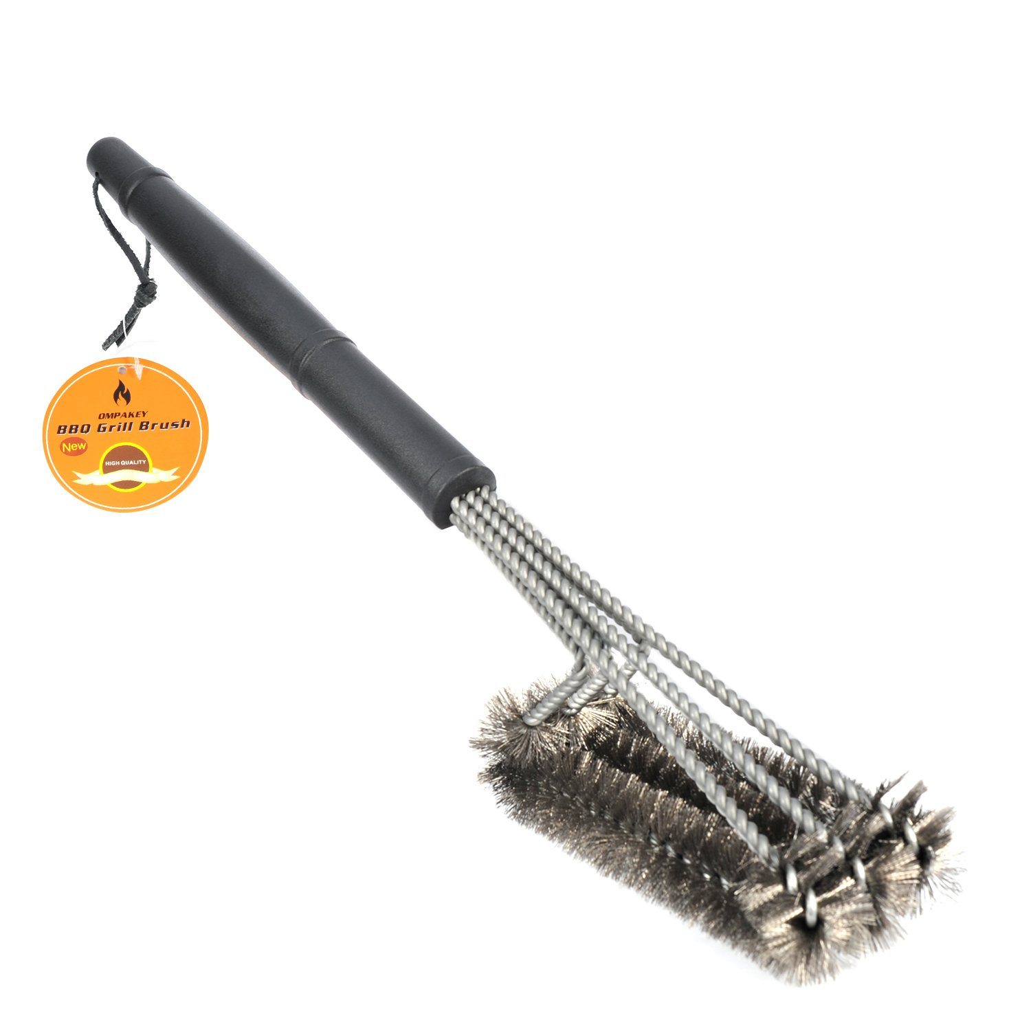"BBQ Grill Brush 18"" Barbeque Brush Made of Stainless Steel Woven Wire - Durable 3 in 1 Bristles Brushes 