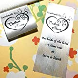 100 pcs Heart butterfly frame design handmade business Custom text logo personalized Sewing hanging satin ribbon clothing labels folding name tag washable wash care handmade label D