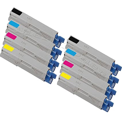 8 x XXL Toner (Juego de 2) de tinta para OKI C 3300 N, C3300, C ...
