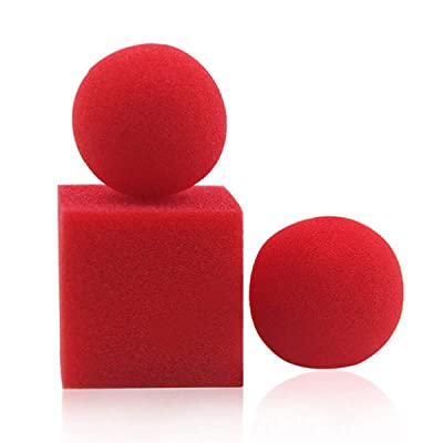 WSNMING 1 Block 2 Sponge Balls Magic Props Close up Street Classical Illusion Magic Tricks: Toys & Games