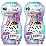 BIC Soleil Glow Women's Disposable Razor, 6 Count
