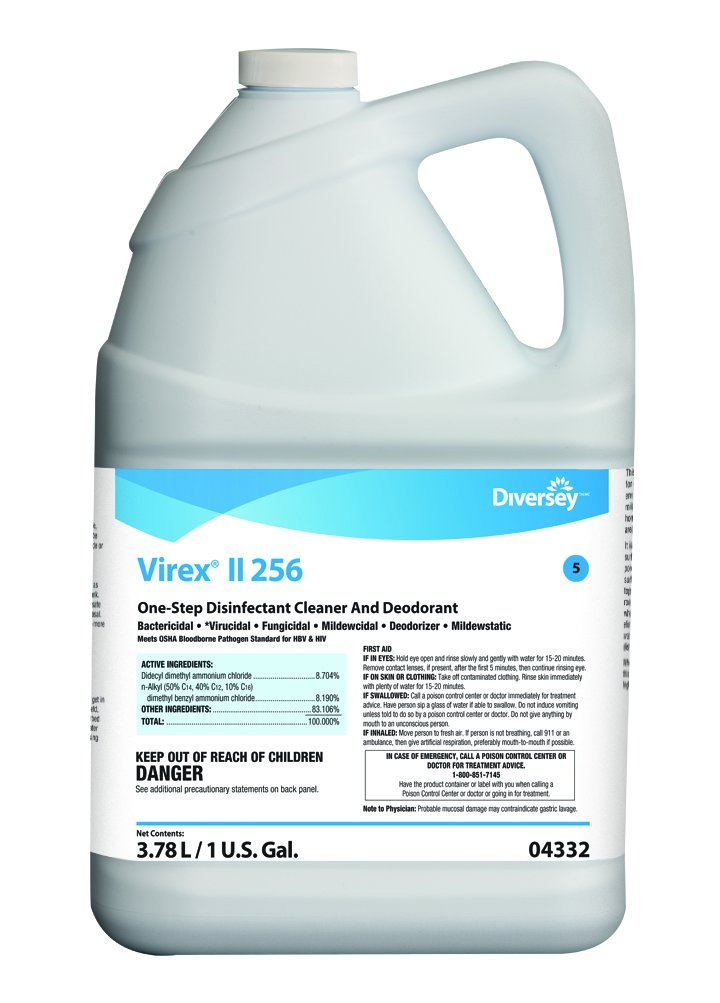 Diversey Virex II 256 Broad Spectrum Disinfectant (1-Gallon, 4-Pack)