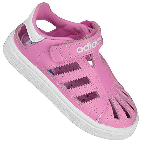 ADIDAS Originali da bambino superstar sandali scarpe sneaker estivi - Rosa, 27