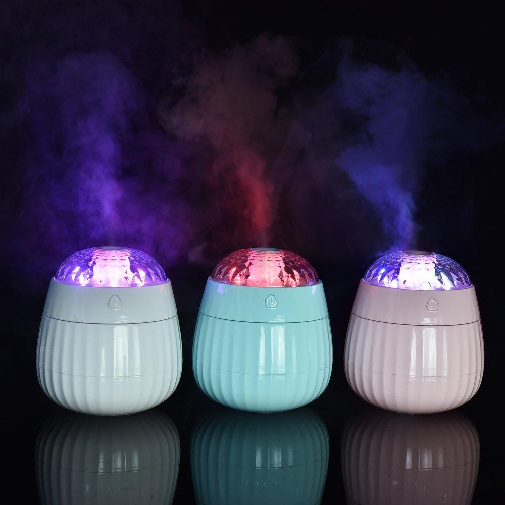 380ML Rose Decdeal /Électrique Humidificateur dair Silencieux avec Lumi/ères LED Humidificateur dair Bebe Humidificateur Chambre Bebe Ultrasonique avec des B/âtonnets de Filtre