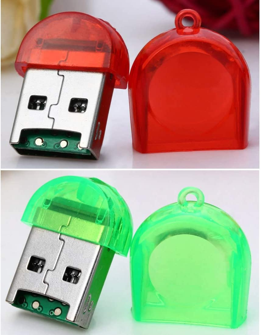 Easy to Carry. Normal 30 PCS Firefly Shape USB 2.0 TF Card Reader ,Pocket Size Baby Blue Random Color Delivery