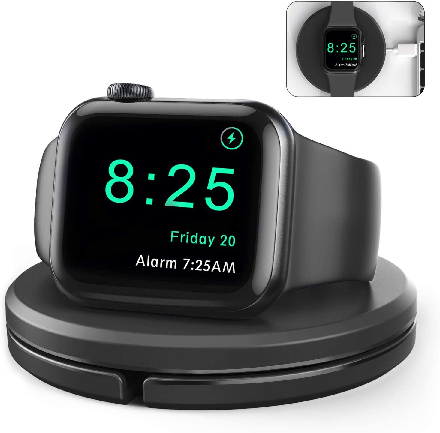 Charging Stand for Apple Watch [Charger Included],Portable Desk Watch Charger Stand with Charging Cable, Magnetic Wireless Charging Station Compatible with iWatch SE Series 6/5/4/3/2/1