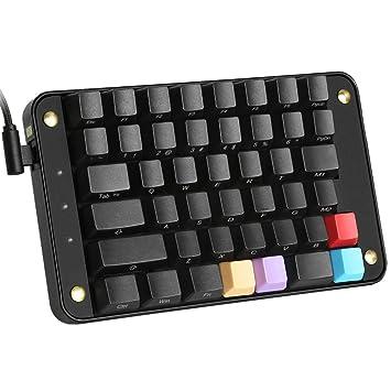 Koolertron – Monomando de programables Teclado mecánico, todos los 44 botones programables Herramientas Teclado con