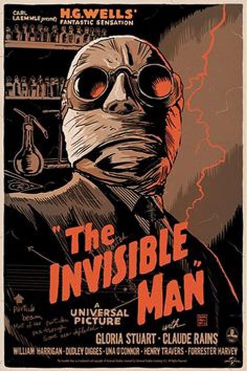 Amazon.com: Antiguo Cartel de chapa La Invisible Man Classic ...