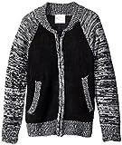 Sugah & Honey Big Girls' Baseball Zip Front Cardigan Sweater