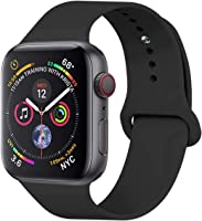 YANCH Compatible Apple Watch Band 38mm 42mm 40mm 44mm, Soft Silicone Sport Band Replacement Wrist Strap Compatible...