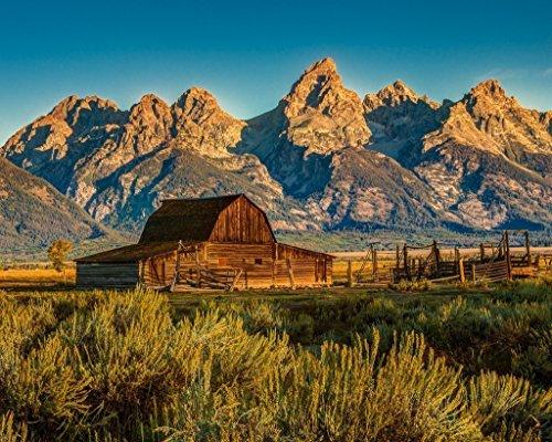 e Teton Mountains. Fine art photography print Barns home decor wall art ()