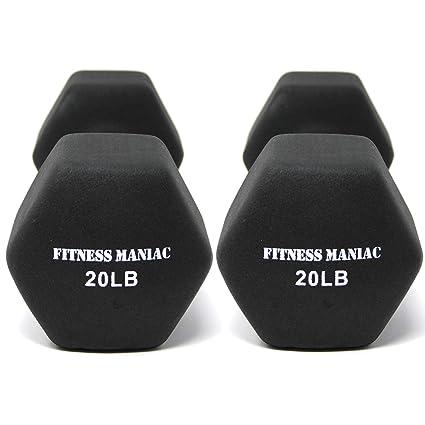 Amazon neoprene coated dumbbells aerobic strength home gym