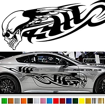 Amazoncom skull car sticker car vinyl side graphics wa car skull decals for trucks