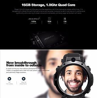 Zeblaze Thor s 3,3 Pulgadas Super AMOLED 1 GB + 16GB 3 G GPS
