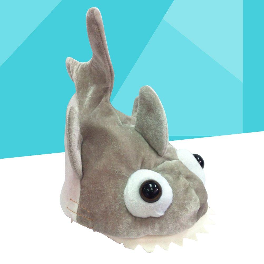 STOBOK Sombrero de Tiburón de Felpa para Traje de Disfraz de Fiesta de Adulto Niño