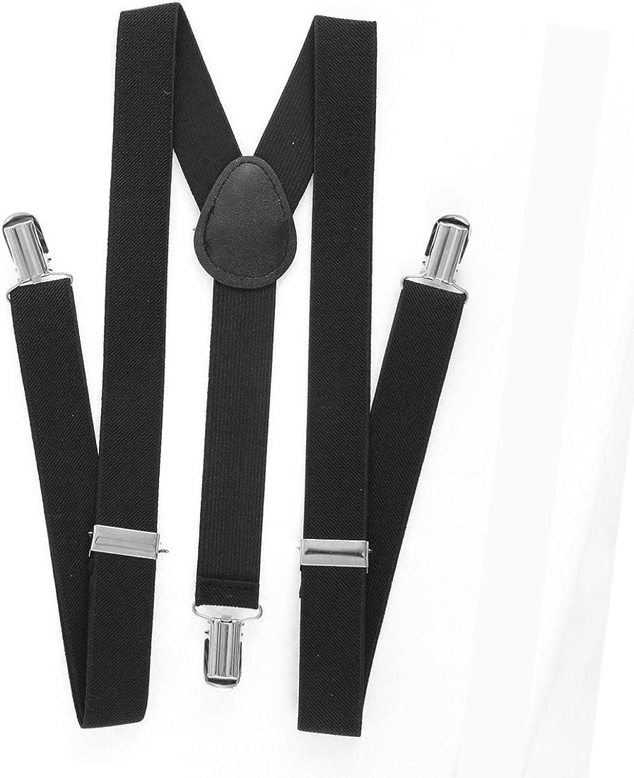 Adjustable Length. Women Suspenders 1 Y Back with Silver Metal Clips