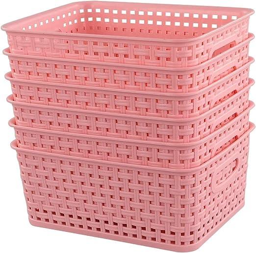 Blau Gr/ün Rosa Ponpong Haushaltskorb Plastikkorb Plastik Korb Kunststoff a4 Aufbewahrungsk/örbe Kunststoff K/örbchen Badezimmer 6 St/ück