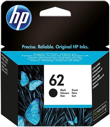 HP 62 - Cartucho de tinta negra (producto original): Amazon.es: Informática