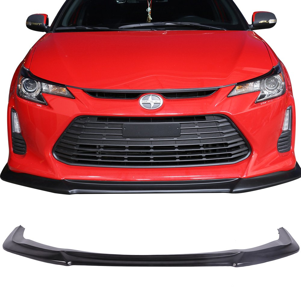 Front Bumper Lip Fits 2014-2016 Scion tC | Ikonmotorsports GT Style Black PU Front Lip Finisher Under Chin Spoiler Add On by IKON MOTORSPORTS | 2015