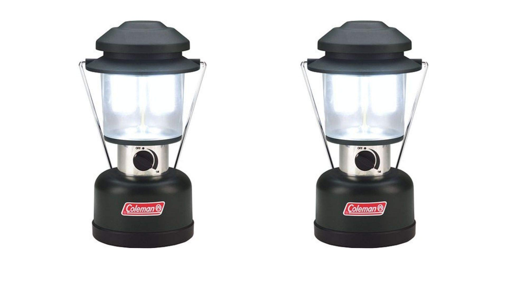 Coleman 390 Lumen Twin LED 8D Battery Lantern-2 Sets