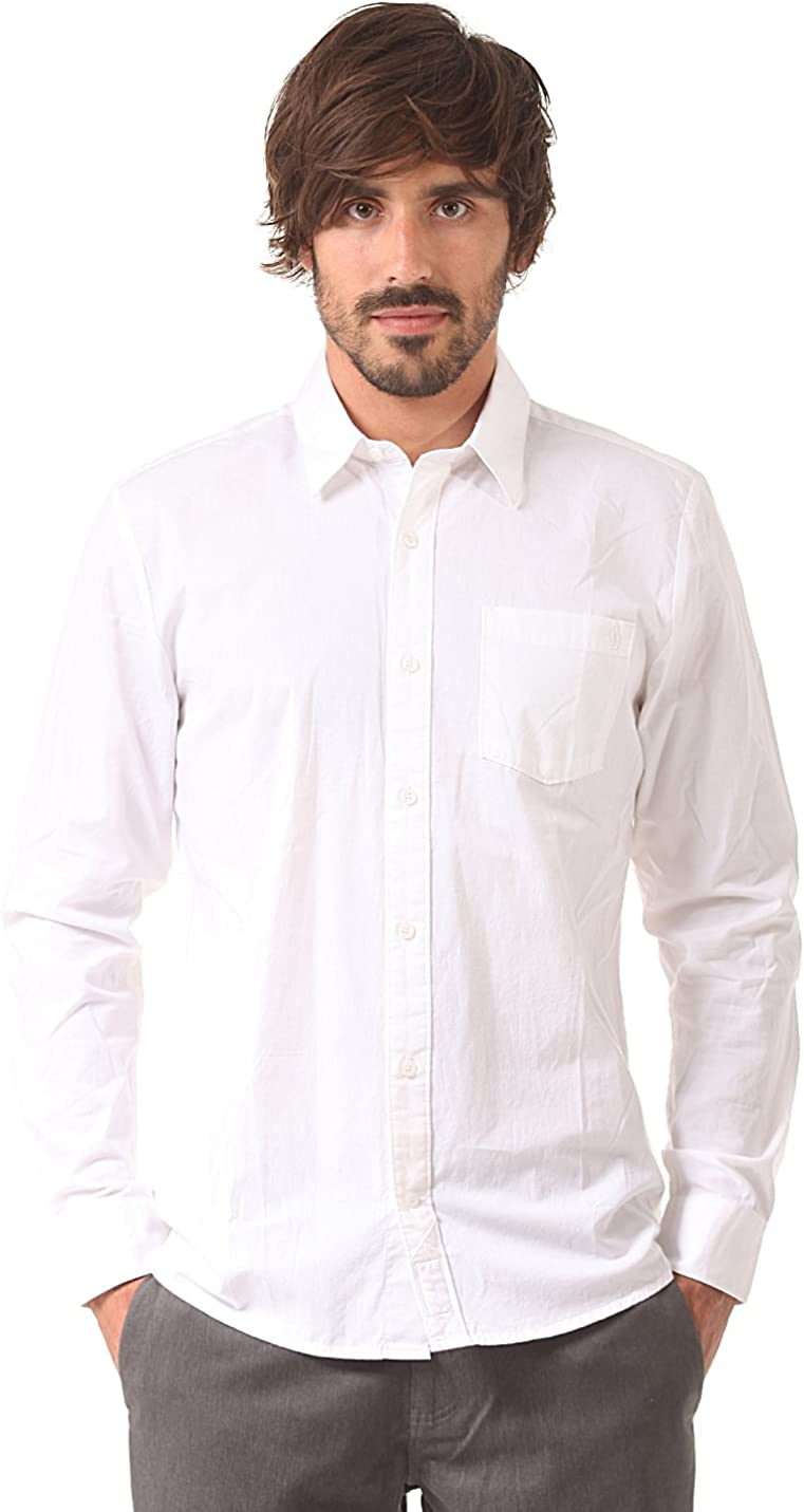Volcom Hemd Weirdoh Solid Long Sleeve - Camisa/Camiseta para Hombre