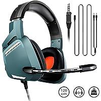 BINDEN Audífonos Gamer G800 Ligeros con Cancelación de Ruido Exterior Sonido Estéreo con Micrófono Compatible con PC, Smartphones, Xbox One, PS4, Nintendo Switch, 3.5mm