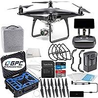DJI Phantom 4 PRO+ PLUS Obsidian Edition Drone Quadcopter Includes Display (Black) Premium Starters Bundle