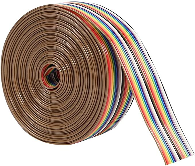 Asiproperuk - Cable Plano de Color arcoíris de 1,27 mm de ...