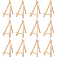 DS.DISTINCTIVE STYLE 12 Pieces 7 Inch Mini Wood Easel Desk Display Easel Easel Stand for Paintings Cards Photos