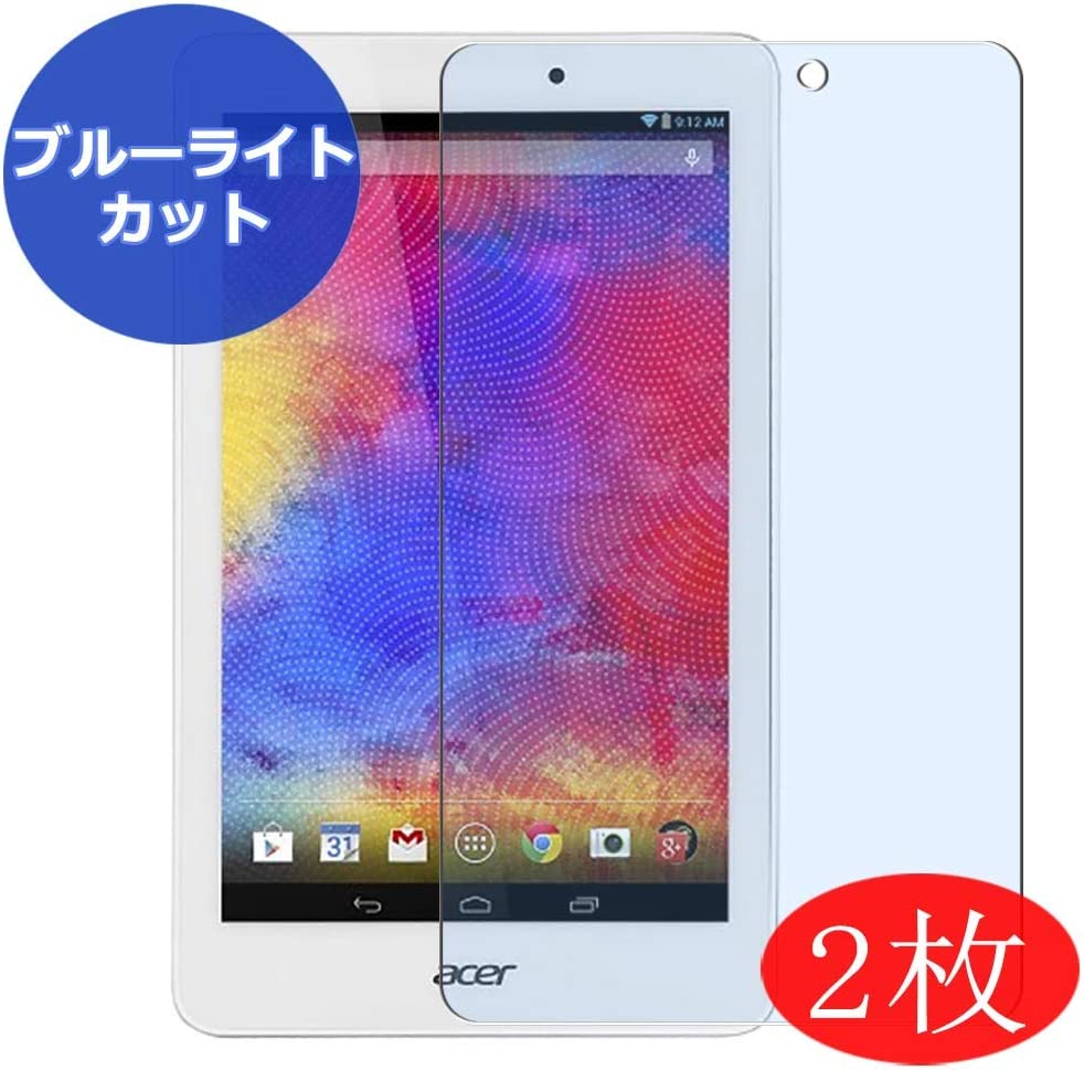 """【2 Pack】 Synvy Anti Blue Light Screen Protector for ACER A1-850 Iconia Tab 8 8"""" Screen Film Protective Protectors [Not Tempered Glass]"""
