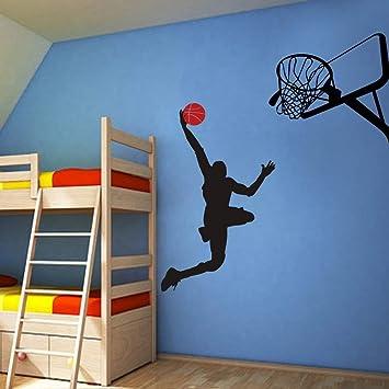 Pegatinas De Pared Jugador De Baloncesto Fresco Dunk Ball Michael ...