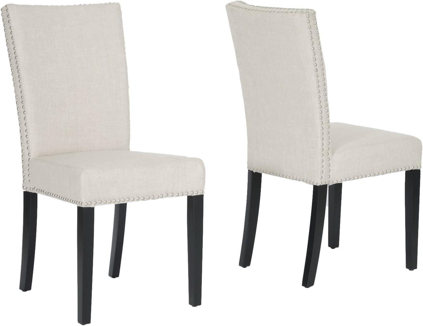 Baxton Studio Harrowgate Linen Modern Dining Chair