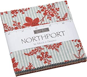 Northport Prints Charm Pack by Minick & Simpson; 42-5 Inch Precut Fabric Quilt Squares