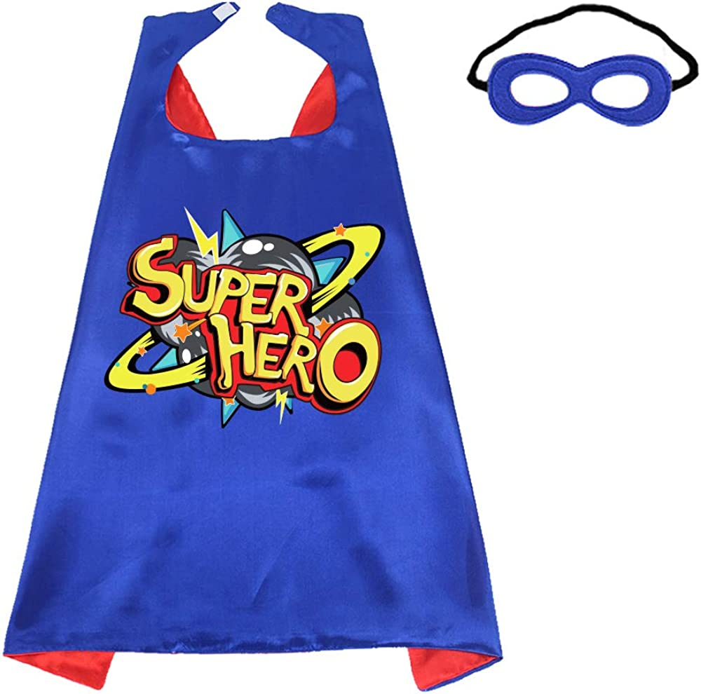 D.Q.Z Kids Superhero Cape and Mask for Girls Boys Dress Up Party Favors