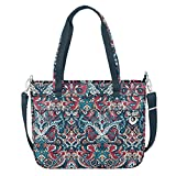 Travelon Women's Anti-Theft Boho Travel Tote, Summer Paisley, One Size