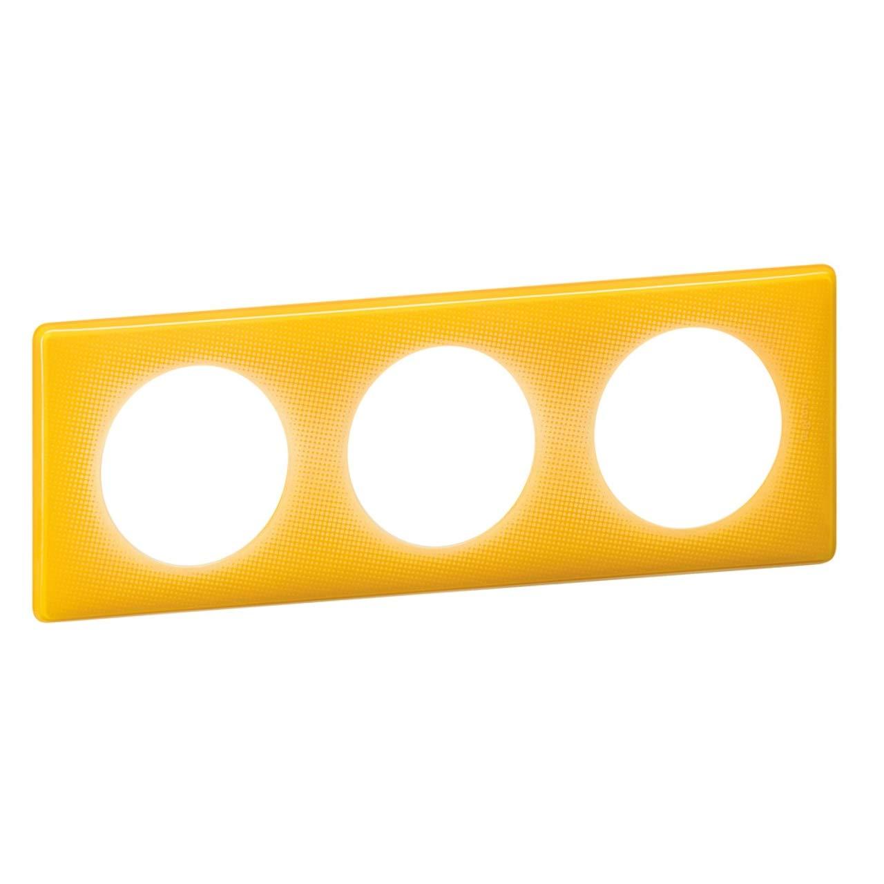 plaque legrand c/éliane 3 postes jaune today