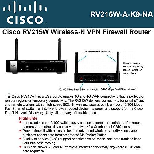 Rv215w Wireless N Vpn Firewall (Rv215w Na A-k9)