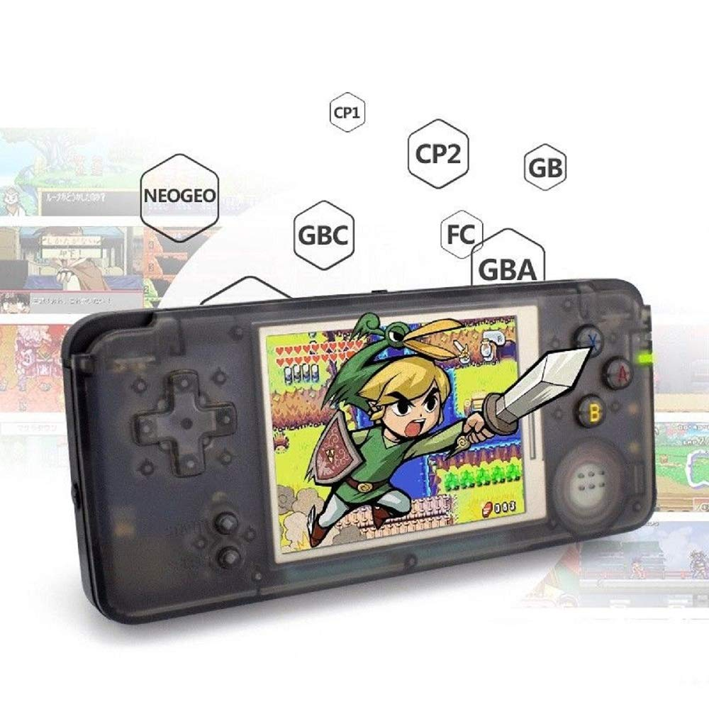 Anbernic Handheld Game Console Retro Game Console 3 inch HD Screen 800 Classic Games of GBA / GBC / GB / SEGA / NES / SFC / NEOGEO , Christmas Birthday for Children (Black) (Black)