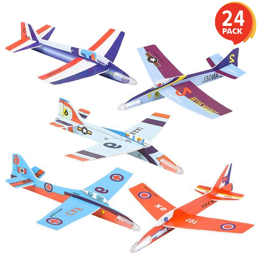 ArtCreativity Fighter Jets 3D Puzzle Set - Pack of 24-7 Inch Various Jet Design Schemes - Airplane Theme Party Activity - Great Party Favor, Summer Fun, Gift Idea for Boys and Girls by ArtCreativity