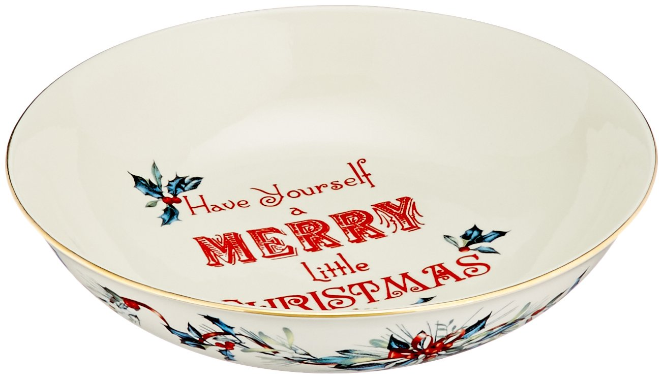 Lenox Winter Greetings Home for The Holidays Sentiment Platter Ivory 863978