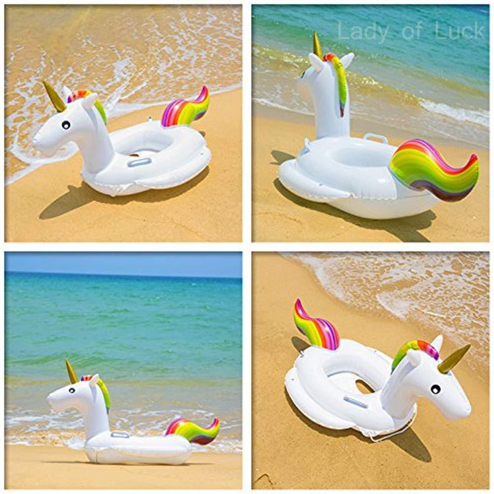 Lady of Luck Gonfiabile Unicorno Bambini Salvagente Unicorno Nuotano Anello Seggiolino Gonfiabile Sicurezza Piscina Galleggiante