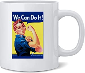 Poster Foundry Rosie The Riveter We Can Do It Ceramic Coffee Mug Tea Cup Fun Novelty Gift 12 oz