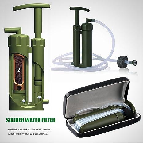 Camping senderismo Militar de purificadores de agua filtro ...
