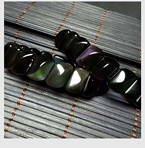 Master Obsidian Bracelet Natural rainbow eye Prismatic surface style