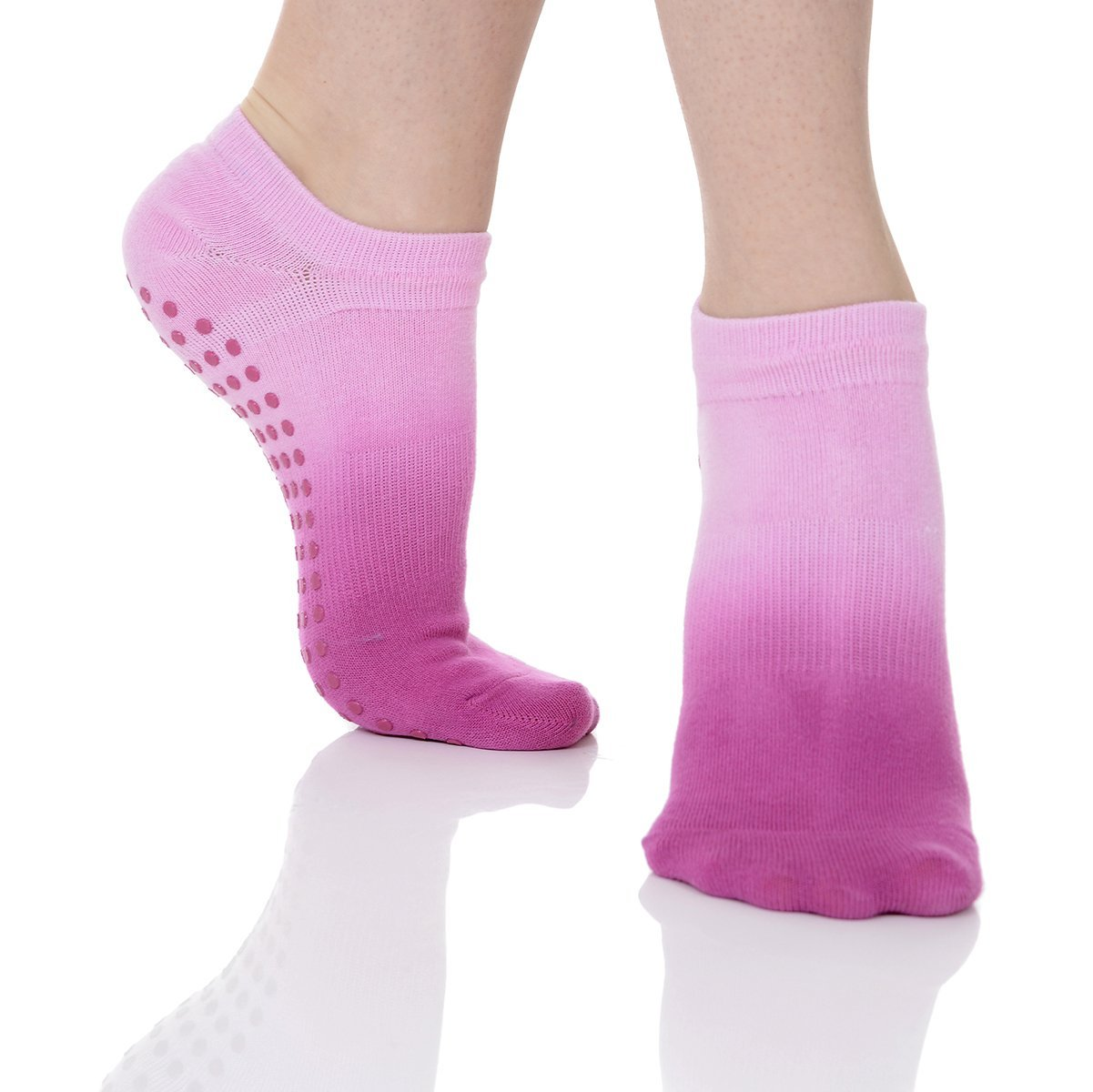 Great Soles Women's Ombre Dyed Grip Socks for Pilates, Yoga, and Barre and Barre (Dusk) 1603