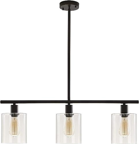 Luupyia 3-Light Pendant Lighting Clear Glass Pendant Lighting