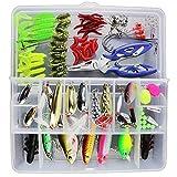 101pcs Fishing Lure Kit Mixed Hard Bait Metal Scents Fishing Tackle Box
